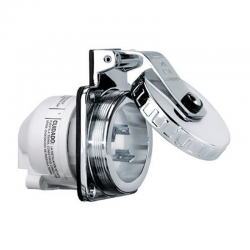 SPINA 2P+T 230V. 16A IP56 IN ACCIAIO INOX