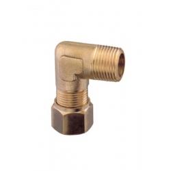 BRASS MALE CURVED FITTING